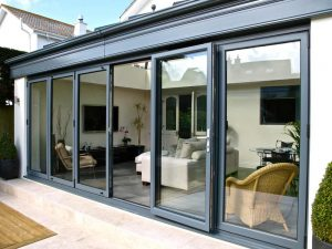 bi folding doors timber aluminium