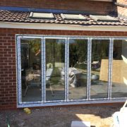 stackers in bi fold door for home project in Cheshire